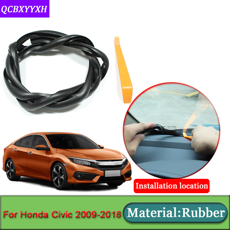 Car-styling For Honda Civic 2009-2018 Anti-Noise Soundproof Dustproof Car Dashboard Windshield Sealing Strips Auto Accessories