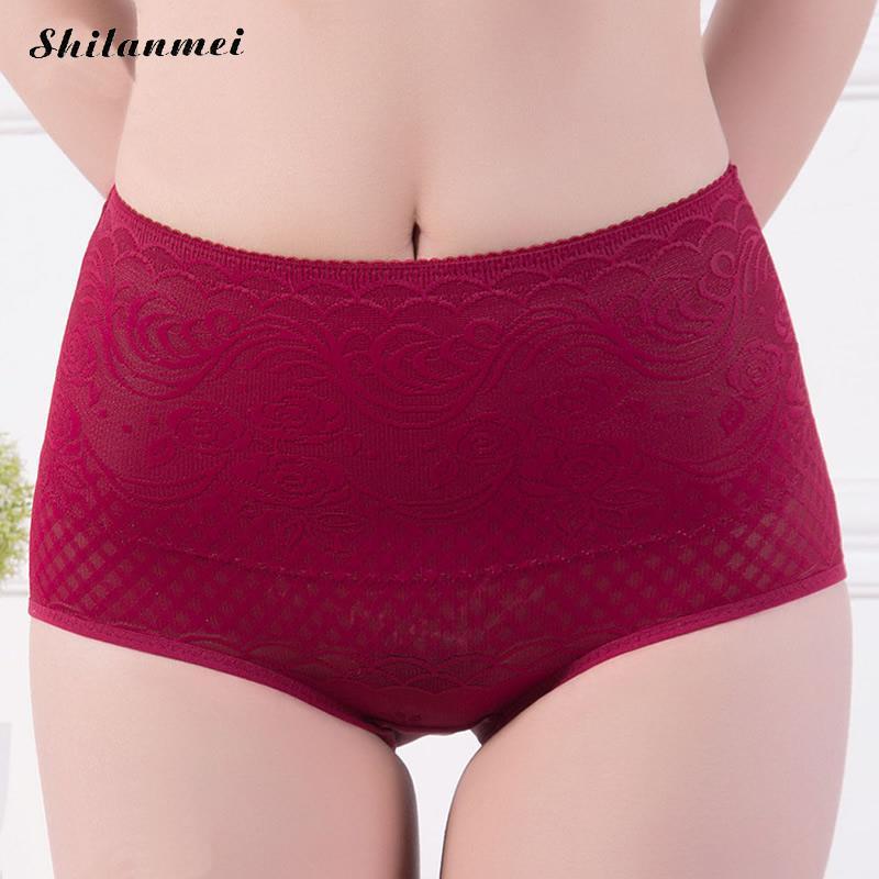 cf5932b7294f 2016 Lace High Waist Underwear Women Plus Large Code Sexy Briefs Abdomen  Soft Comfortable Panties biancheria intima mujer bragas