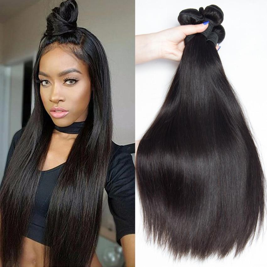 Peruvian Virgin Hair Straight Human Hair Weave 4pcs ...  Peruvian Virgin...