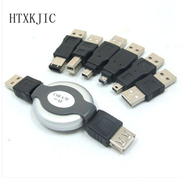 Wholesale New Dropship New 6 in 1 USB Adapter Travel Kit Cable to Firewire IEEE 1394