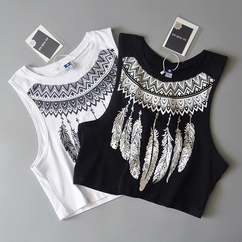 Sexy sleeveless vest Crop top women 2018 summer new fashion Tank tops ladies vest feather base t shirt Camis women Ladies