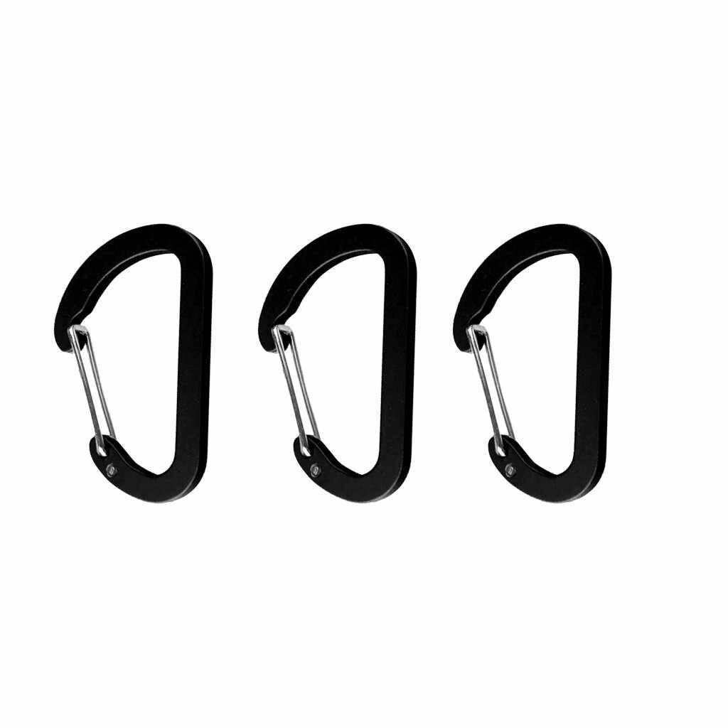 100% Thương Hiệu Mới Và cao chất lượng Nhôm Ốp Móc Móc Neo D chống Móc Khóa Kẹp Dùng Leo Núi Trại Nhôm ốp Móc # P5