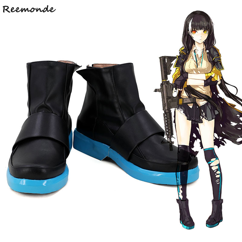 Game Girls Frontline RO635 Cosplay Costume Black Short Boots Shoes Heighten Shoes Halloween Carnival Party For
