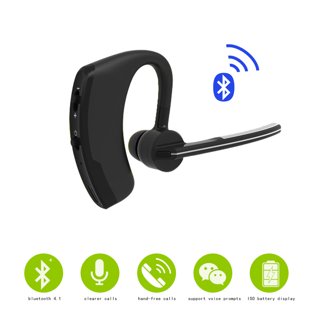 Wireless Bluetooth Headset Bluetooth Earphone Headphones With Mic HandsFree For Android IOS system font b Smartphone