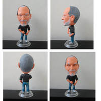 With Scarf And Glasses KODOTO Mini Steve Jobs Toys Action Figure Cartoon PVC Dolls Model