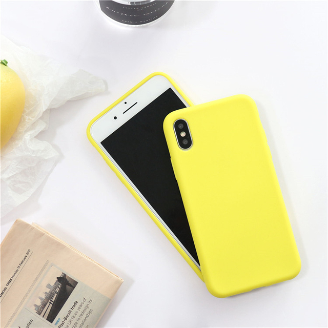 Fashion Solid Color Soft Phone Case For iPhone
