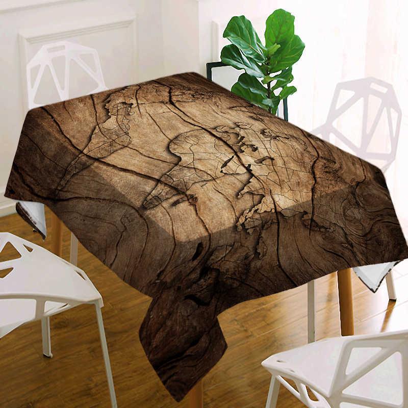 مكافحة القذرة كبيرة مفرش طاولة للماء سماط الخشب العالم خريطة مستطيلة سماط الزفاف جولة سماط Oilproof غطاء