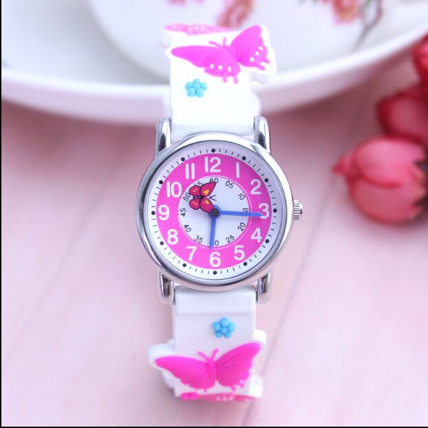 купить WILLIS 3D Mini Butterfly Design Analog Band Little Boys Girls Children Wrist Kids Watches,Waterproof онлайн