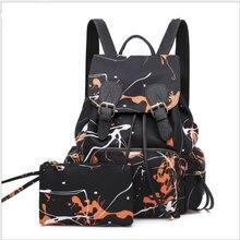 c2c34e94bad PUOU Women's Backpack Nylon Graffiti Shool Bag Korean The Cross-border Lady  Travel School Bags
