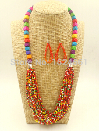 necklace Wooden African Bead Jewelry charm * bead body jewelry ornament seed choker necklace