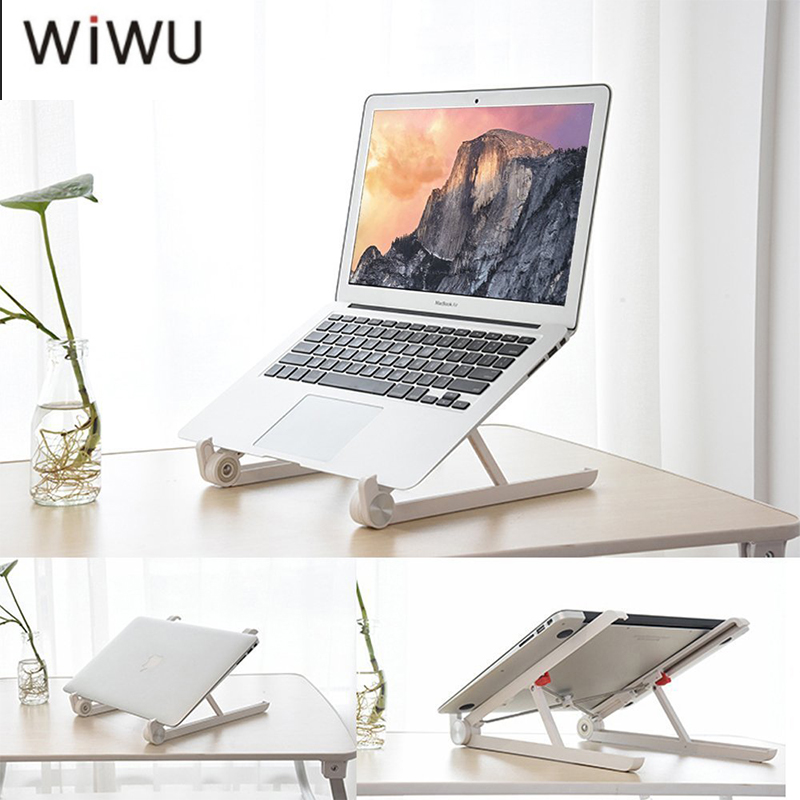 WIWU Laptop Stand Holder Mount Adjustable Angle Portable Folding Laptop Lapdesk Office E ...