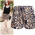 Mainland 2016 Summer Sexy Women Leopard  Pants High Waist Shorts Loose Leopard Printing Shorts Beach Casual Short Pants