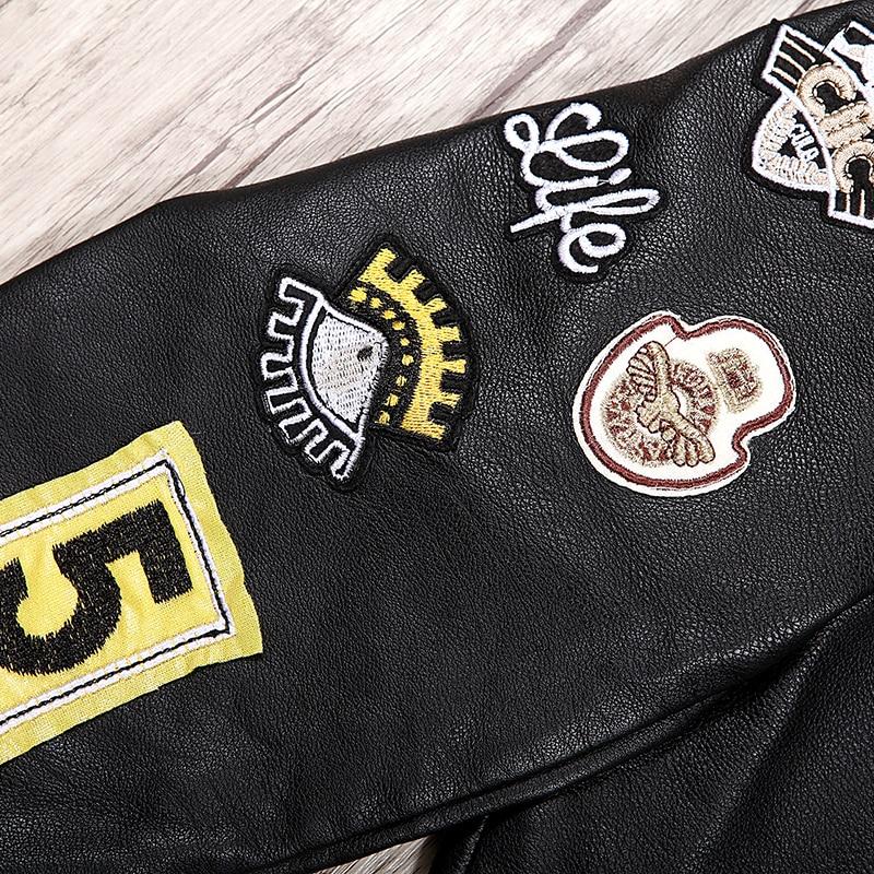 Automne Manteaux Appliques Dessus Rivet 5588 Pour Vêtements Broderie Longues À Veste De story Chic Cuir Mode Mince Femmes Pu Manches Glo 2018 En w1qTEfBa