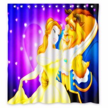 66 X72 Inch Beauty And The Beast Shower Curtain Waterproof
