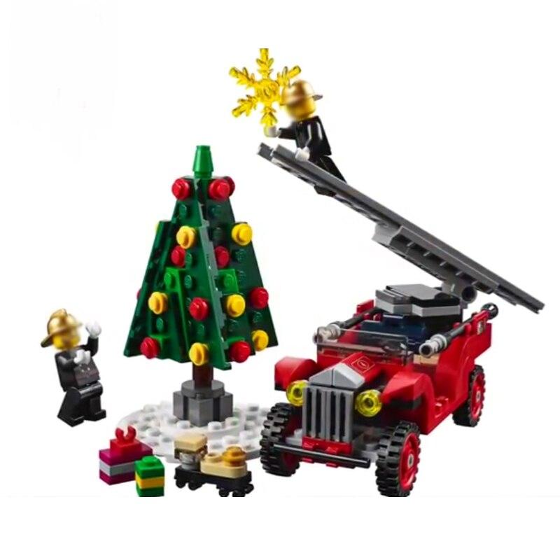 Nowy stwórcy zestaw kompatybilny Creator 10263 straż pożarna Model Building Blocks DIY klocki edukacyjne zabawki boże narodzenie Gifrts w Klocki od Zabawki i hobby na  Grupa 2