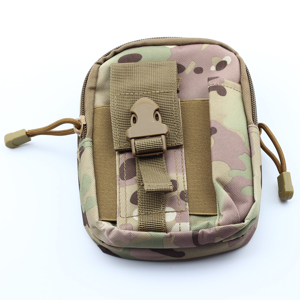 Outdoor Hiking Travel Kit Universal Army Tactical Waist Camouflage Bag Mobile Phone Case Cover Pouch