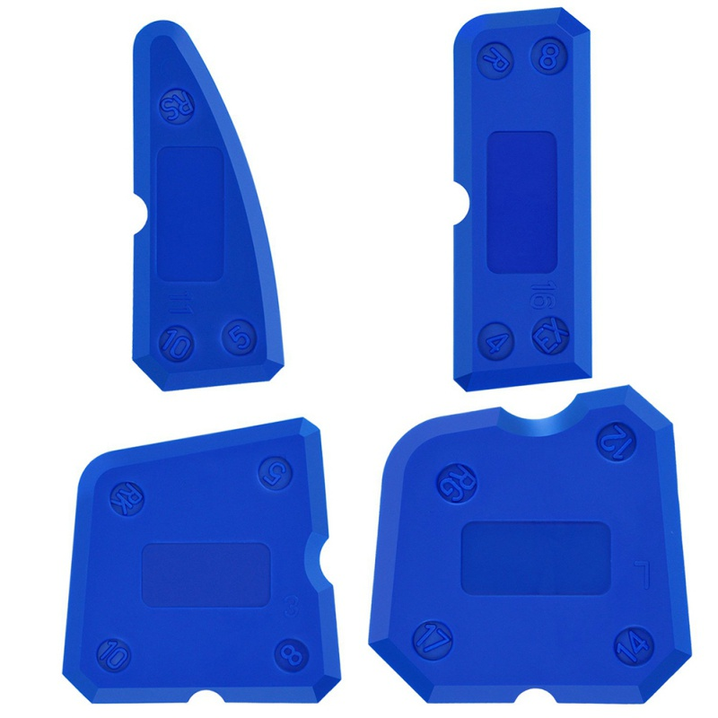 4 Pieces Of Caulk Tool Kit Sealant Silicone Finishing Tool Scraper Tool Set For Sealing Glue Cement Glass Glue