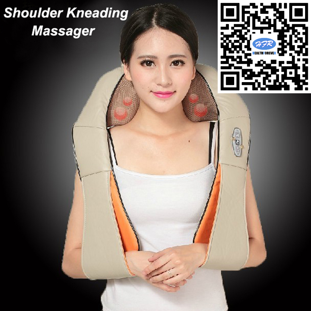 HFR-878-3F Heat Shiatsu Back and Full Body Use in Car and Home Neck & Shoulder Kneading Massager with DC Adaptor hfr 858 3c healthforever brand four heat plastic balls with dc12v 2a adopter shiatsu neck lumbar home