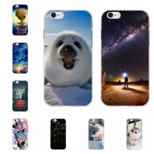 For Apple iPhone 6 6s Phone Case Ultra-slim Soft TPU Silicone 6S Cover Cute Cartoon Patterned Capa