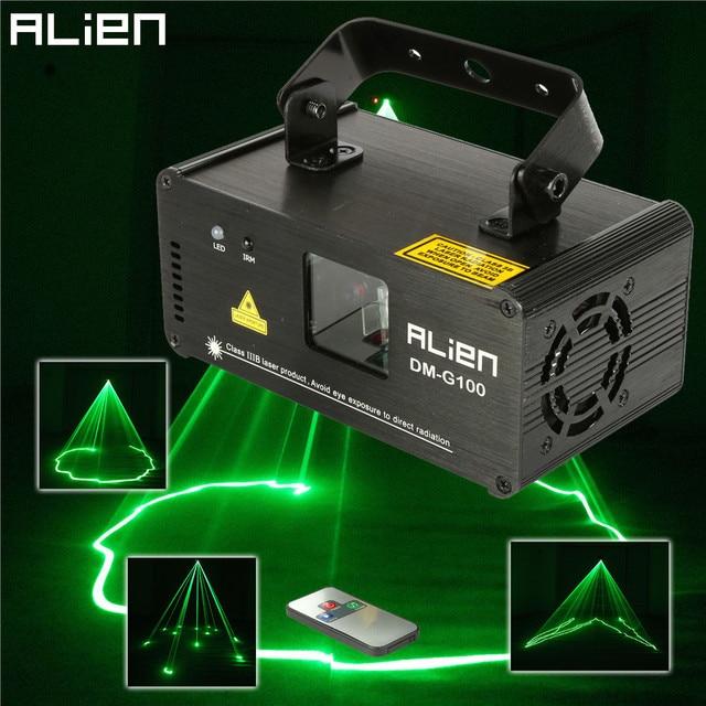 ALIEN DMX 100mW Green Laser Stage Lighting Scanner Effcet
