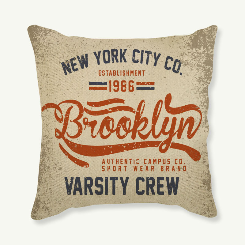 Cushion Cover Cotton Linen Letter Printed Pillow Case 45x45cm For Sofa Couch Decorative Throw Pillows Sofa Car Decor Pillowcase