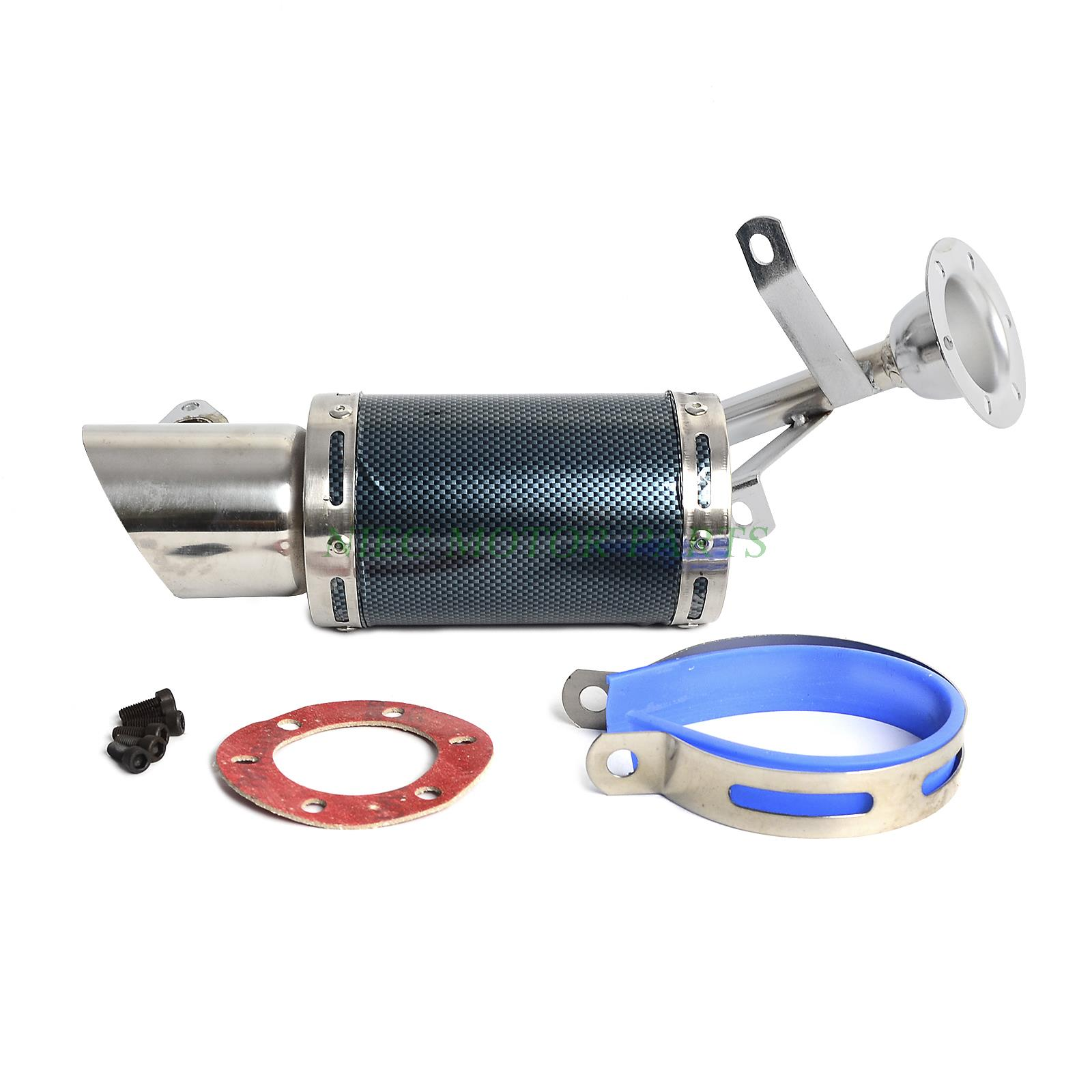 Scooter Short Performance Exhaust System Black GY6 150cc Chinese Scooter Parts
