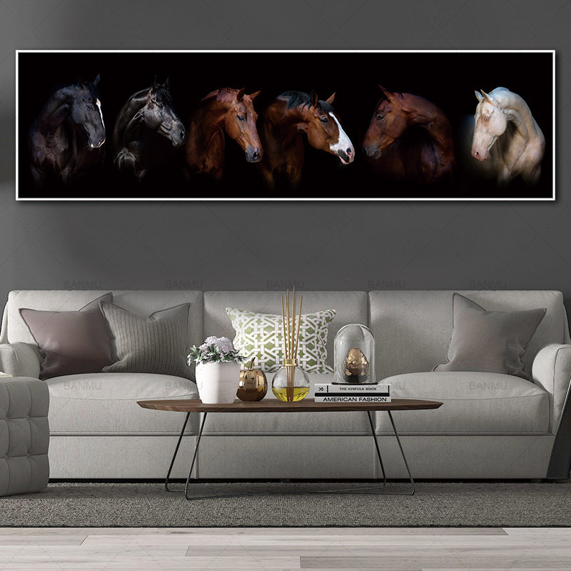 canvas painting art print horse on canvas wall art pictures and poster no frame wall art Painting decoration for living room