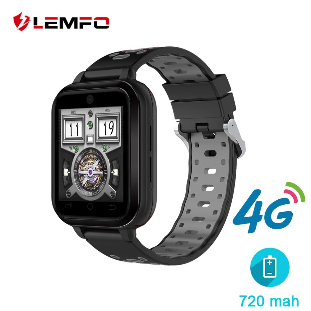 LEMFO 4G smart watch 1 GB + 8 ГБ MTK6737 Android 6,0 водонепроницаемые часы 720 мАч большая батарея поддержка GPS wi-fi камера
