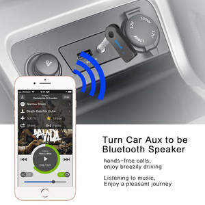 Image 4 - Rovtop Mini 3.5MM Jack AUX Audio MP3 Music Bluetooth Receiver Car Kit Wireless Handsfree Speaker Headphone Adapter for iphone Z4