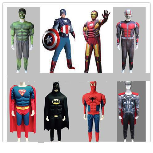 Adult Green Giant Muscle American Captain Raytheon Spiderman Iron Revenge Garment Superman Costume