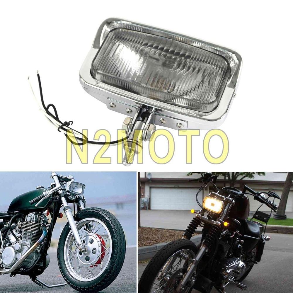 Motorcycle Retro Vintage 5/'/' Headlight Lamp Universal Fit Harley Chopper Bobber