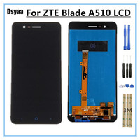 Smartphone Display for ZTE Blade A510 LCD Display Touch Screen Digitizer Glass Panel Assembly 5 inch