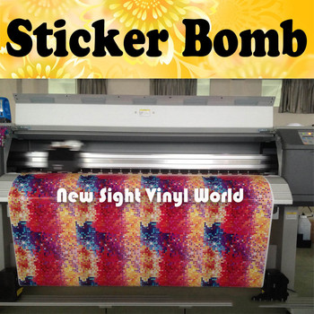 Colorful Sparkle Sticker Bomb Vinyl Roll Sticker Bombing Sparkle Graffiti Vinyl Film Bubble Free Size:1.50*30m/Roll