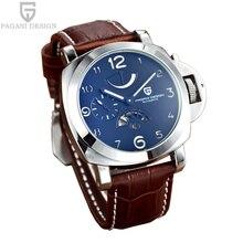 2016 Mens watches top brand luxury automatic tourbillon mechanical watch chronograph 50M waterproof Auto date steel saat