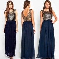 새로운 뜨거운 판매 여성 드레스 긴 쉬폰