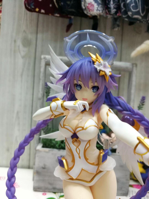 "Hyperdimension Neptunia Purple Heart Neptune Figure Sexy Girl PVC Toy Model 25cm 10"" 1"