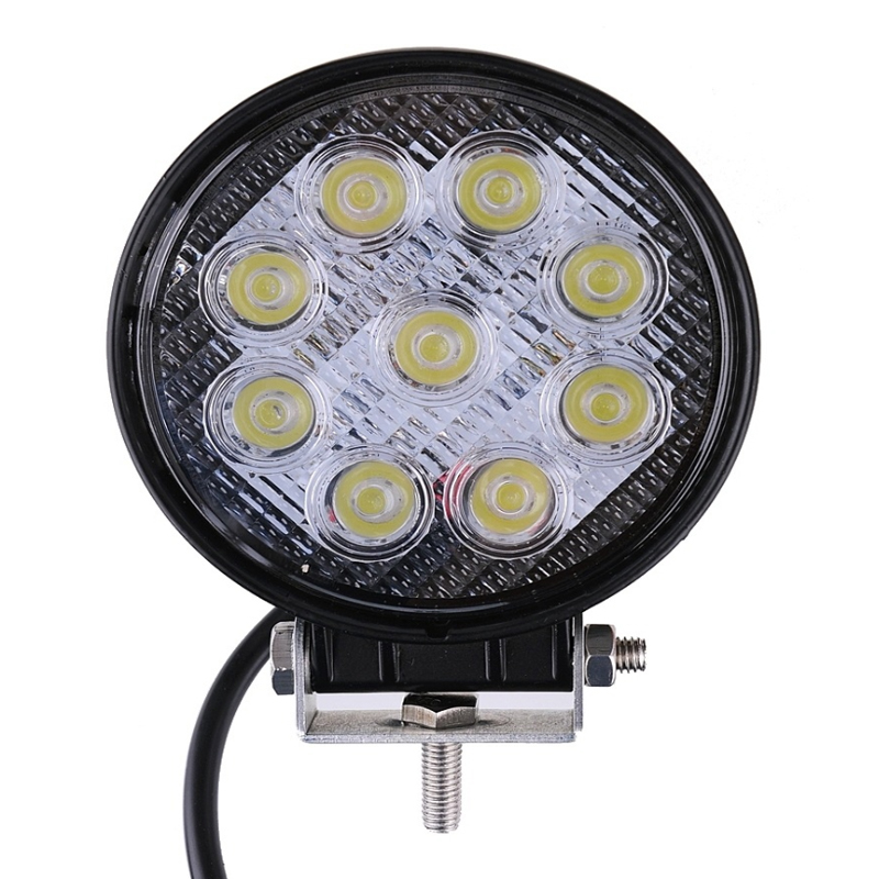 27W LED Work Light 12V 24V Off-road Lights ATV Floodlight Tractor Train Bus Lamp Boat UTV Car Automotive Engineering Spotlight электронная книга pocketbook 626 plus gold pb626 2 g ru