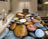 Beautiful Stone 3D Wall Mural Flooring Bathroom 3d Wallpaper Floor Custom Photo Self Adhesive 3D Floor