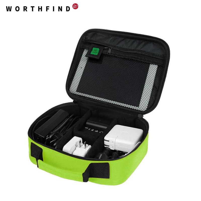 WORTHFIND 2018 Nuevo Cable de fecha Accesorios digitales Bolsa - Bolsas para equipaje y viajes