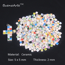 526 шт./упак. 5 мм микро Керамика мозаичная плитка, Толщина: 2 мм, хобби «Сделай Сам ремесленные Материал. Миниатюрная фарфоровая мозаичная плитка «сделай сам»