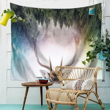 Decor Mandala Animal Tapestry Wall Hanging Hippie Throw Bohemian Dorm Bedspread Table Cloth Curtain