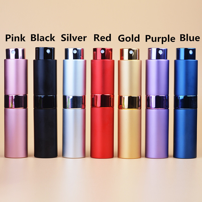 8ml/15ml 7 Colors Fashion  Refillable Portable Mini Perfume bottle & Atomizer Empty Bottle Traveler Aluminum Spray