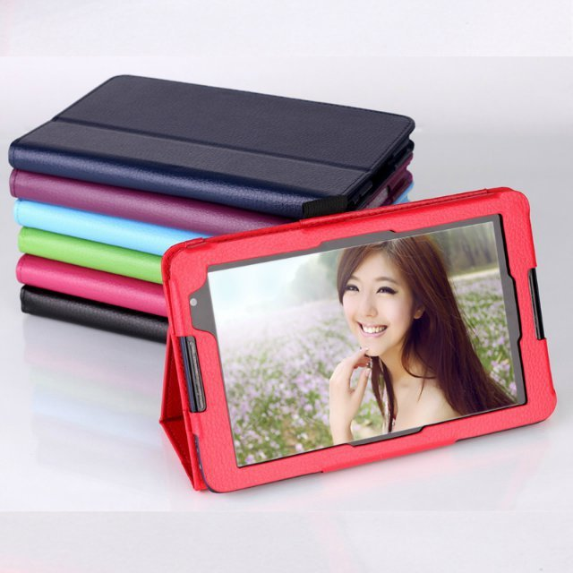 Tablet PU Leather Case cover for lenovo A5500 Tab ideatab A8 7-Color Free Shipping