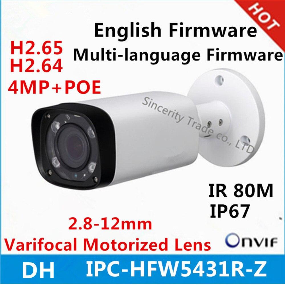 original DH 4mp Night Camera IPC HFW5431R Z 80m IR with 2 7 12mm VF lens