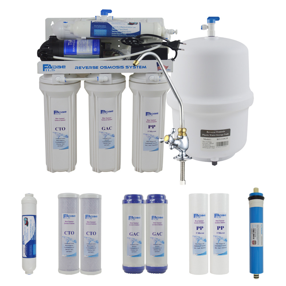 5 Stage Undersink Reverse Osmosis Drinking Water Filtration System-50GPD plus Extra Set of 4 Supreme Quality Replacement Filters 5 stage undersink reverse osmosis drinking water filtration system 50gpd plus extra set of 4 supreme quality replacement filters
