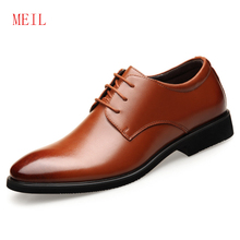 Hidden 6CM Men Formal Business Genuine Leather Dress Office Elevator Shoes Comfort Gentleman Shoe Wedding