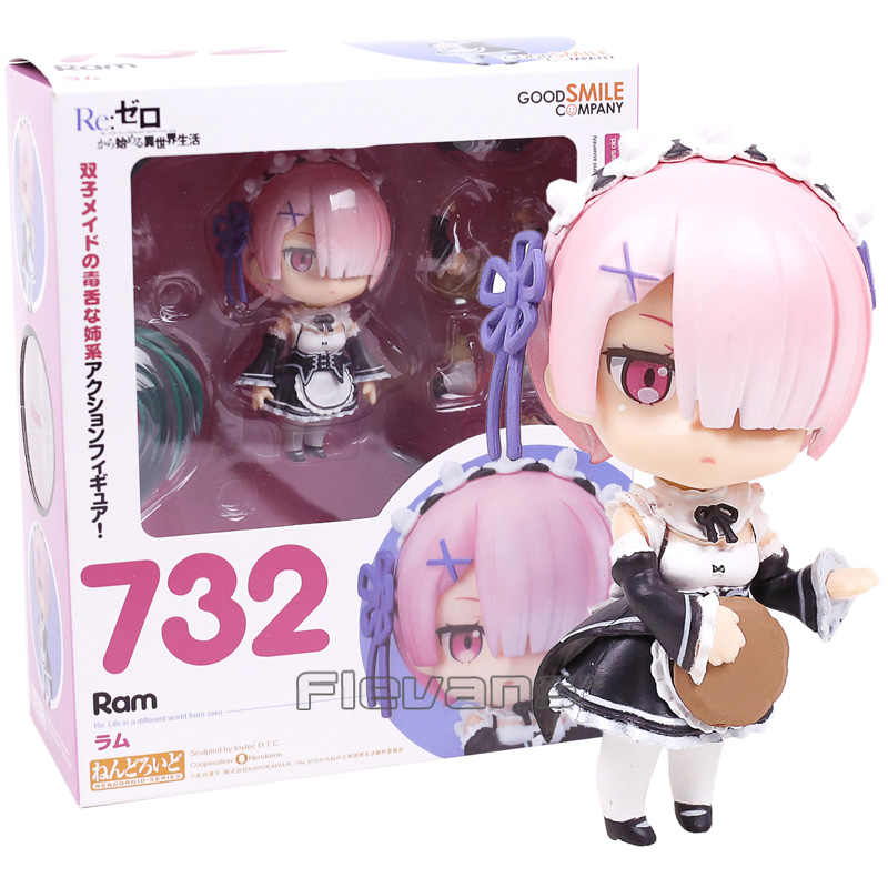 Nendoroid Re Life in a different world from zero Ram 732 PVC Action Figure Collectible Model Toy Doll