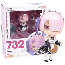 Re A Vida em um mundo diferente de zero Nendoroid Ram 732 PVC Action Figure Collectible Modelo Toy Boneca(China)