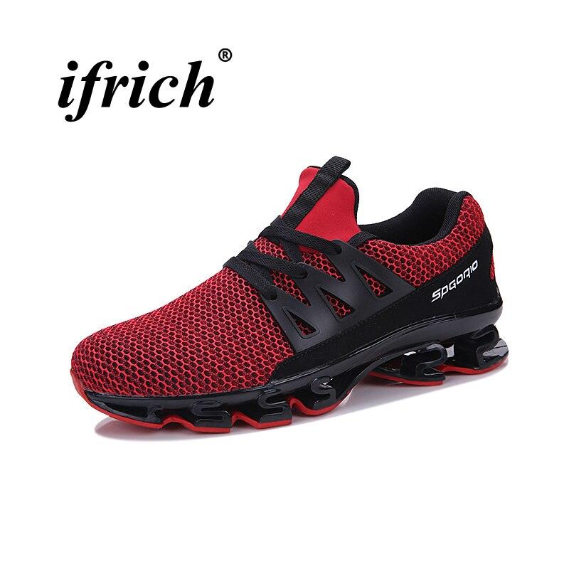 Плюс Размеры Для мужчин кроссовки дышащая Спортивная обувь Кроссовки черный, красный Для ...