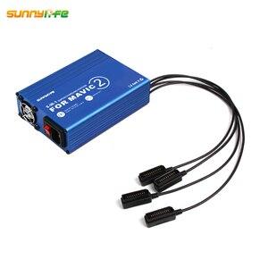 Image 2 - DJI MAVIC 2 PRO & ZOOM Drone 용 USB 슈퍼 충전 스테이션 배터리 충전기 허브가있는 6 IN 1 원격 홈 충전기